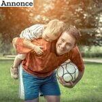 Få far/søn-tid med fodbold i haven